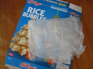 Using Cereal Boxes for your Mixed Media Art Projects