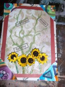 Making Greeting Cards from Recycled Art Scraps