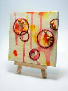 Small Experiments with Mini Mixed Media Canvases