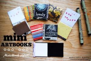 Mini ArtBooks Matchbook-styled!
