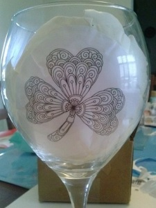 Create a Little Luck of the Irish – Hand Painted Wine Glass and Charm