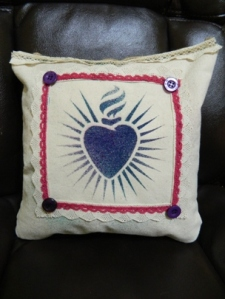 Mixed Media Decor Pillow
